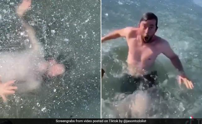 TikTok Star Gets Trapped Under Ice. 21 Million Views For Terrifying Video