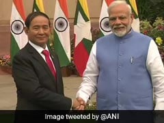 Myanmar President Meets PM Modi In Delhi, Discusses Bilateral Issues