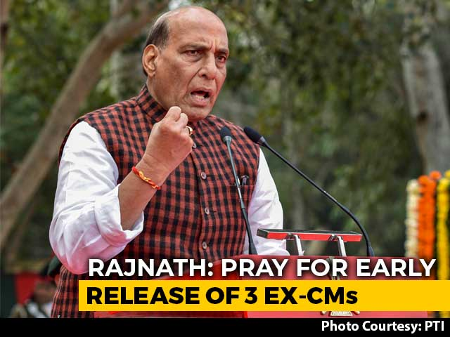 Video : I Pray For Early Release Of Abdullahs, Mehbooba Mufti: Rajnath Singh