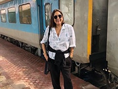 Neena Is In Holiday Mode. Destination Unknown But She Took The Train