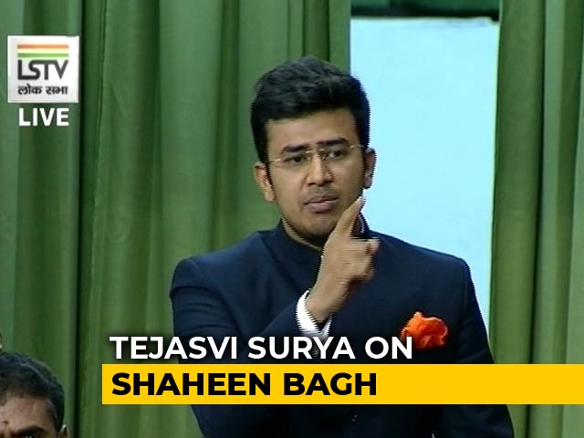 "Video : ""Mughal Raj Not Far Away If..."": BJP's Tejasvi Surya On Anti-CAA Protesters"