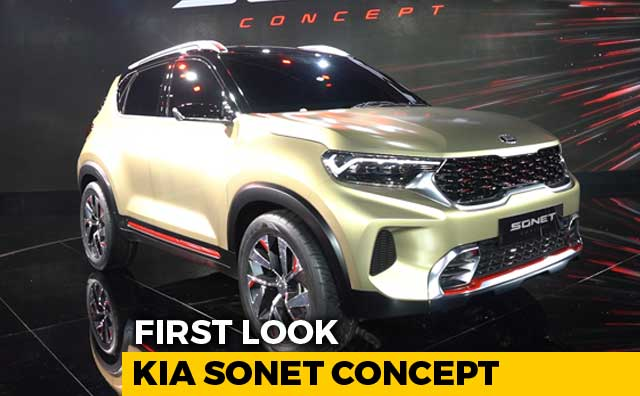 Kia Sonet Subcompact SUV Concept First Look