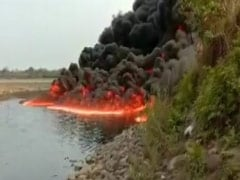 Assam River On Fire For 2 Days After Crude Oil Pipeline Bursts