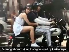 सारा अली खान को बाइक राइड पर लेकर निकले कार्तिक आर्यन, बोले- चालान कटेगा...देखें Video