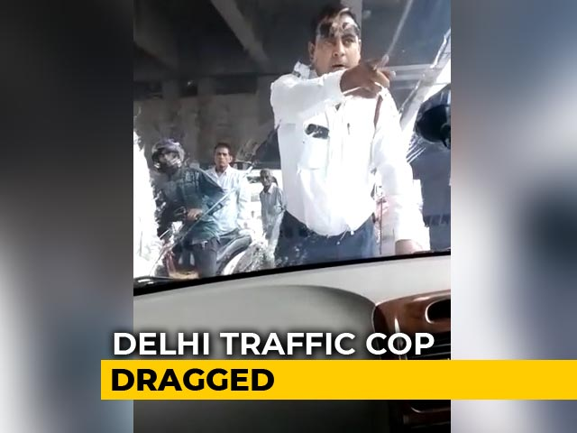 "Video : Delhi Cop Taken ""Hostage"" On Car Bonnet For 2 Kms, Video Goes Viral"