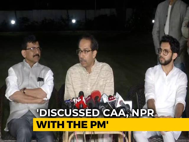 "Video : ""Discussed CAA With PM, Nobody Needs To Be Afraid"": Uddhav Thackeray"