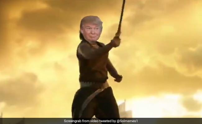 "Watch: Ahead Of India Visit, Donald Trump Shares Video Of Himself As ""Baahubali"""