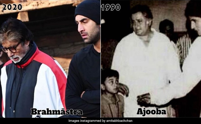 Ranbir Kapoor, Then And Now. Amitabh Bachchan Posts Pics 30 Years Apart. Bonus - Shashi Kapoor