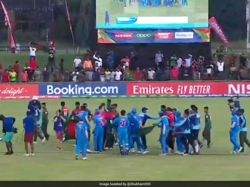 Watch: Clash On Field As Bangladesh U-19 Players Get Aggressive With Indian Team After World Cup Final