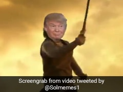 "Watch: Ahead Of India Visit, Donald Trump Shares Video Of Himself As <i>""Baahubali""</i>"