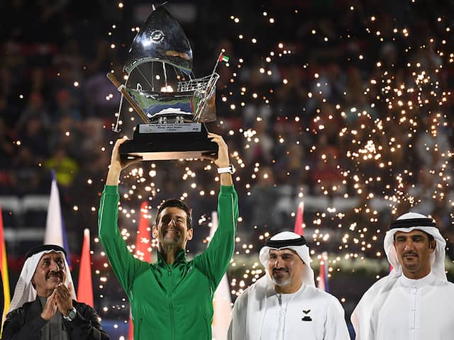 Novak Djokovic Dominates Stefanos Tsitsipas To Win 5th Dubai Trophy 79th Career Title Tennis News