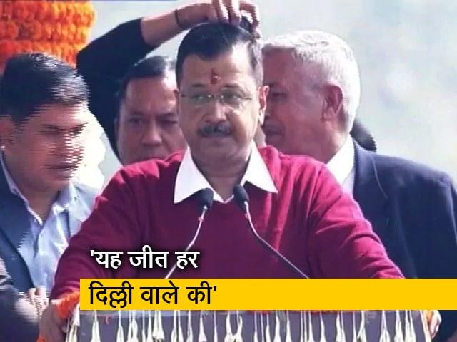 Videos : शपथ ग्रहण के बाद अरविंद केजरीवाल ने दिल्ली वालों को कहा थैंक्यू