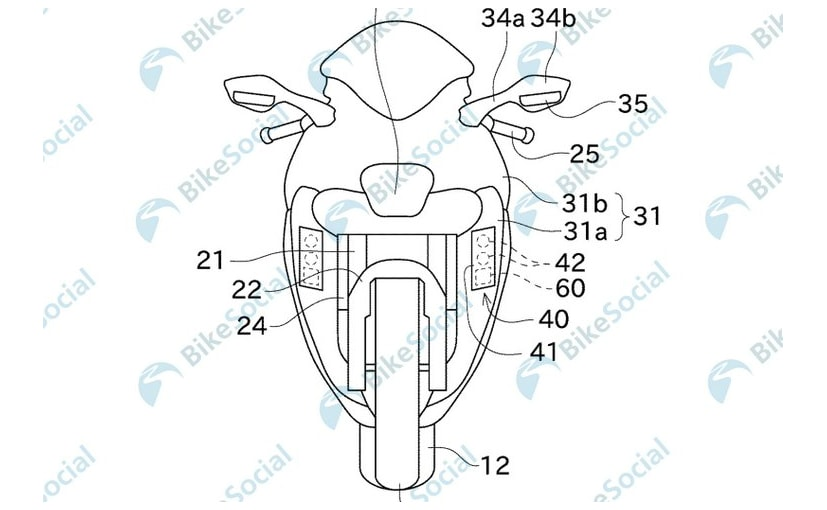 Patent images reveal new camera-based warning system from Kawasaki