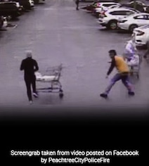 Man Takes Down Shoplifter With Grocery Cart During Police Chase. Watch