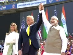 Donald Trump Addresses Mega Event In Ahmedabad