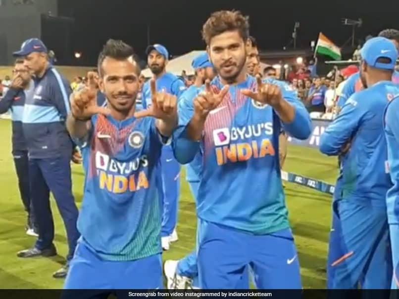 "Yuzvendra Chahal, Shreyas Iyer Celebrate Indias T20I Series Win With ""Victory Dance"". Watch"