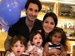 Sunny Leone's Twin Boys Celebrate Second Birthday With A Delicious Chocolate Cake