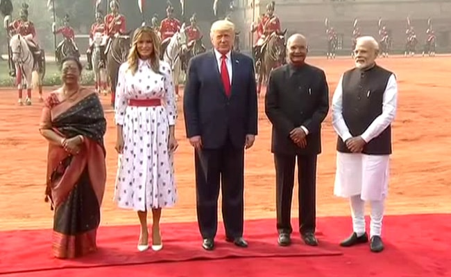 Donald Trump India Visit Live Updates: US President Donald Trump Reaches Hyderabad House For Meeting With PM Modi