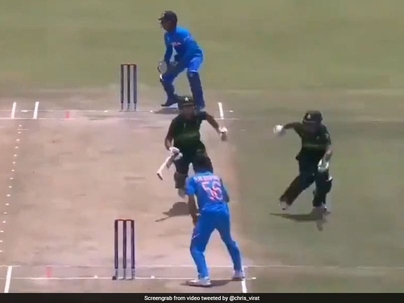 """India vs Pakistan: """"Run-Out Picasso"""" Pakistan Add Another To Their List Of Mid-Pitch Disasters"""