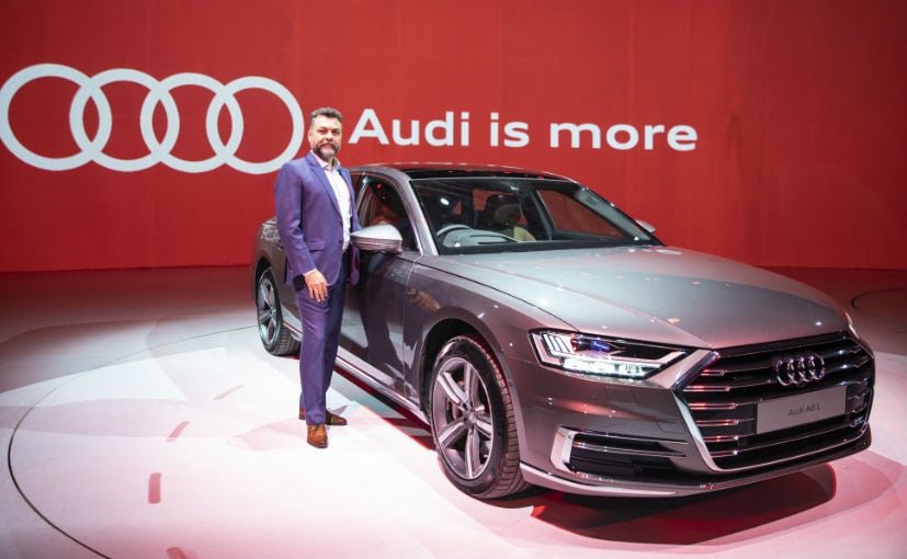 Balbir Singh Dhillon, Head of Audi India with the new generation Audi A8L
