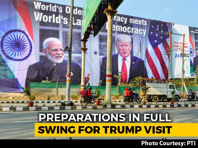 Video : India Gears Up To Host Donald Trump, Ahmedabad First Stop