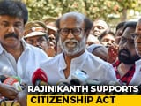 "Video : CAA ""No Threat To Muslims"", Population Register ""Essential"": Rajinikanth"