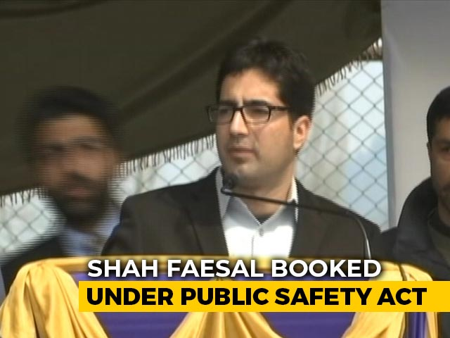 Video : J&K Leader Shah Faesal Detained Under Stringent Public Safety Act
