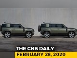 Video : Land Rover Defender Price, Honda Sales Milestone, TVS Expansion