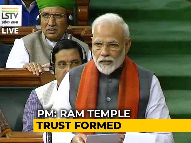 """Video : """"Trust For Ram Temple Set Up In Line With Supreme Court Order"""": PM"""