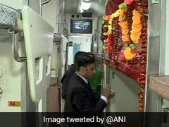 Seat On Train Launched By PM Turned Into Shiva Temple? Railways Reacts