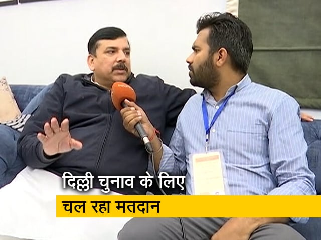 Video : लोग हमारे पक्ष में कर रहे हैं वोट: AAP नेता संजय सिंह