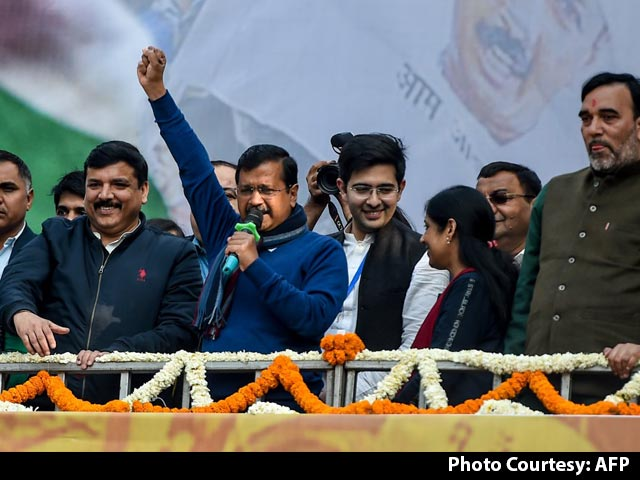 "Video : ""I Love You,"" Arvind Kejriwal Tells Supporters After Big Delhi Win"