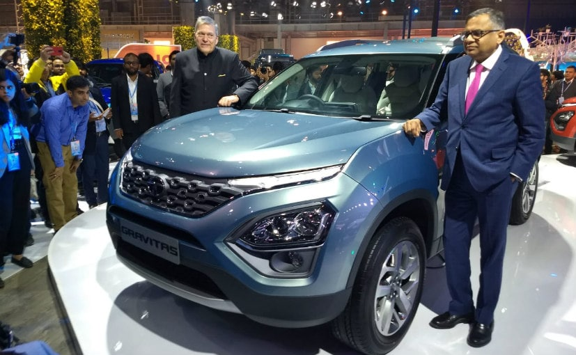 N Chandra, Chairman, Tata Sons & Guenter Butschek, MD & CEO, Tata Motors with the Tata Gravitas