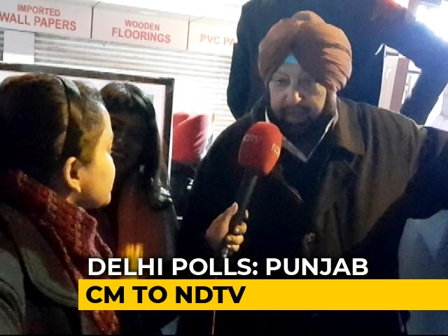 """Video : """"Can Feel Pulse Of People"""": Congress's Amarinder Singh On Delhi Polls"""