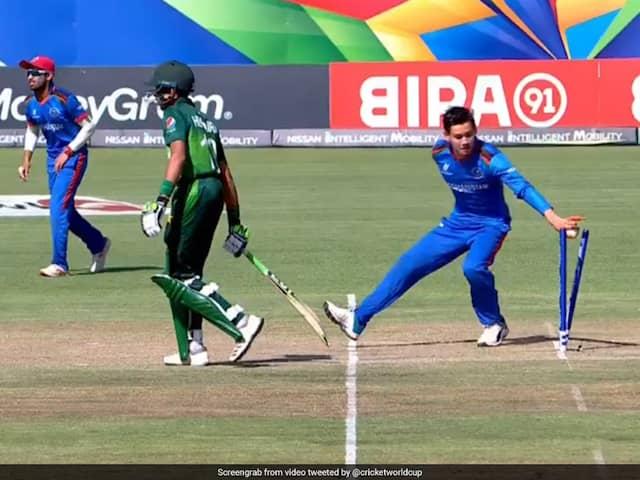 Watch: Afghan U-19 Spinner Mankads Pakistan Batsman, Twitter Divided
