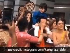 करीना कपूर और करिश्मा कपूर ने भाई की शादी में जमकर किया डांस, तैमूर अली खान भी थिरकते आए नजर- देखें Video