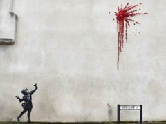 British Street Artist Plays With Violence And Innocence In Valentine's Day Graffiti