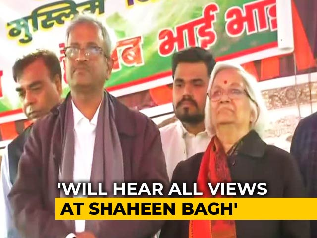 "Video : ""Let's Resolve Issue Together"": Mediators For Shaheen Bagh To Protesters"