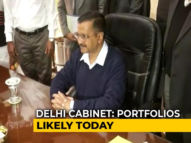 Arvind Kejriwal Takes Charge As Delhi Chief Minister, At The Delhi Secretariat.