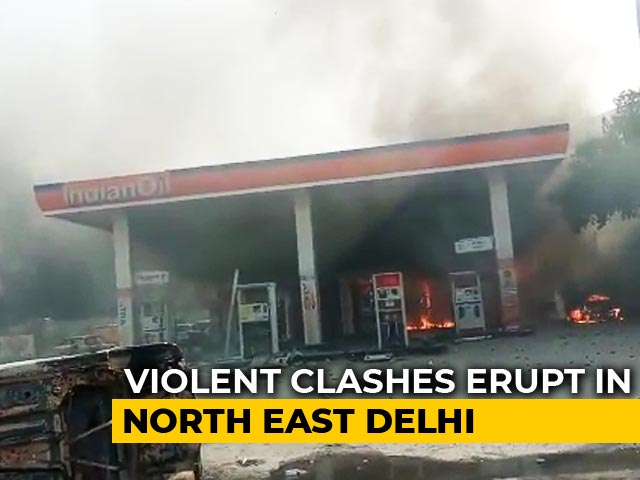Video : 5 People, Including Cop, Killed In CAA Clashes In Delhi Hours Before Trump's Arrival
