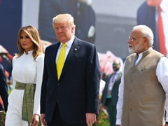 See Best Pics From Trump, Melania Visit: Big Hug, <i>Charkha</i> Moment And Cultural Show