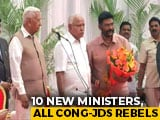 Video : BS Yediyurappa Inducts 10 Former Congress, JDS MLAs In Karnataka Cabinet