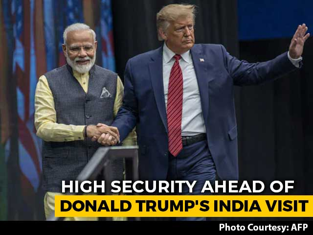 Video : High Security Ahead Of Donald Trump's India Visit