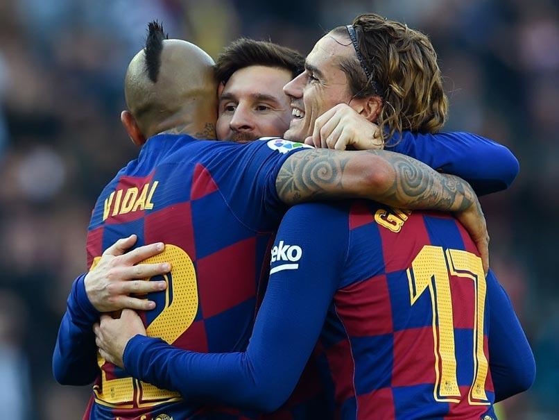 Lionel Messi Scores Four As Barcelona Rout Eibar In La Liga