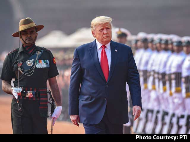 Video : Ceremonial Welcome For Donald Trump At Rashtrapati Bhavan