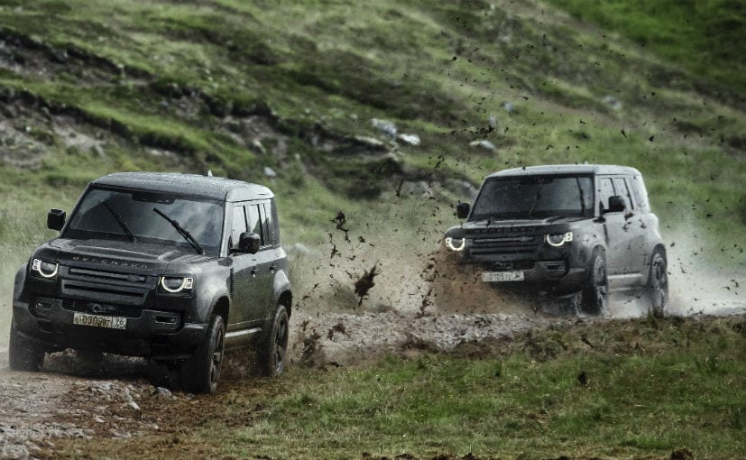 Land Rover publishes '007' rehearsal clip showcasing the Defender performing 30m jump