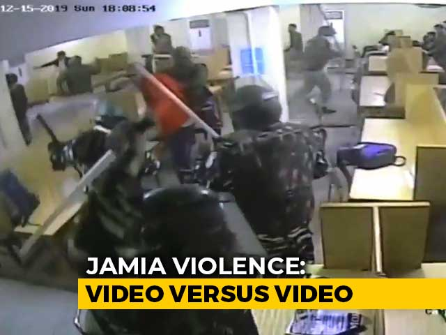 Video : Video vs Video Over What Happened Inside Jamia Library On Day Of Violence