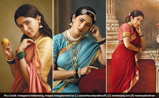 Samantha, Shruti Haasan, Ramya Krishnan Give Life To Raja Ravi Varma Paintings For 2020 Calendar