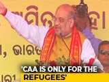 "Video : ""Nobody Will Lose Their Citizenship, Opposition Lying"": Amit Shah On CAA"