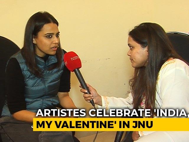 Video : Artistes Unite At JNU To Celebrate 'India, My Valentine'